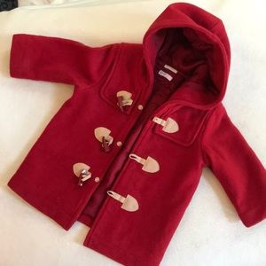 Benetton Baby Red wool toggle jacket
